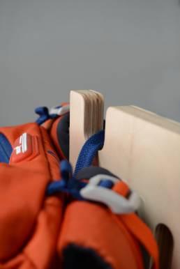 Nest backpack detail